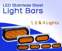 Posi-View LED Stainless Steel Light Bars