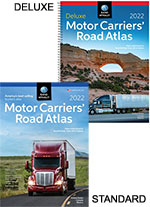 Rand Mcnally Standard or Deluxe Laminated Motor Carrier Road Atlas