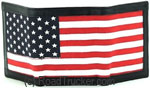DAS - American Flag RFID Leather Trifold Wallet