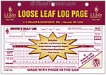 Loose-Leaf Duplicate Driver's Daily Log books