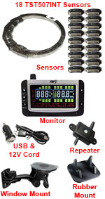 Deluxe 18 Internal Flow-Through Sensors TPMS